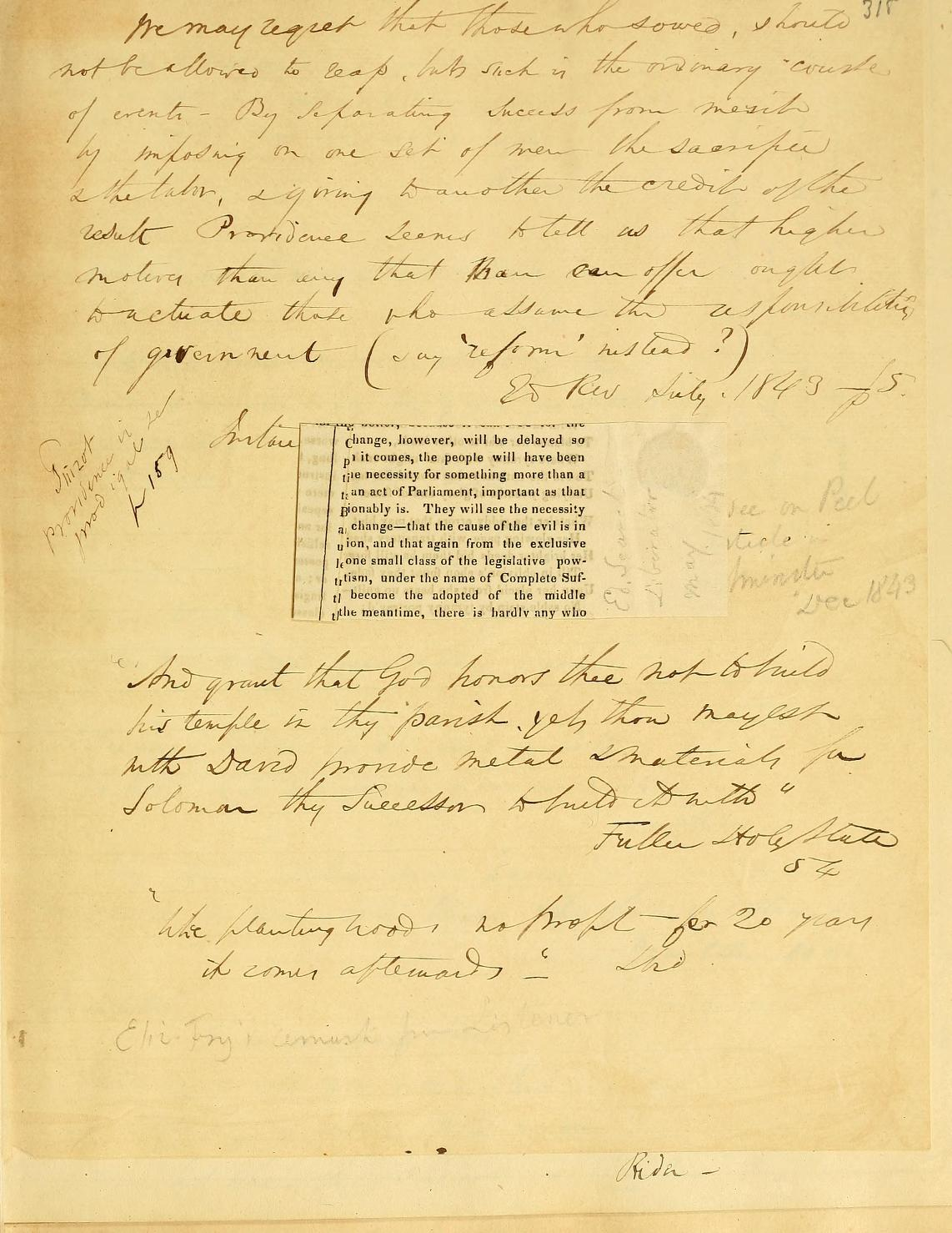 Sample page from the Commonplace Book of Wendell Phillips